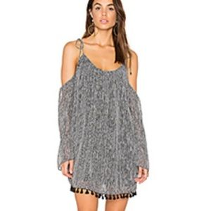 Black and white cold shoulder dress from revolve